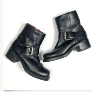 Durango Women's 7 M Leather Harness Boots Square